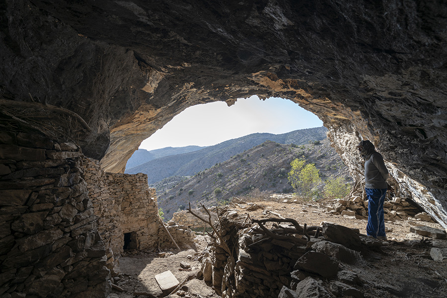 Maawil cave on hajar mountains