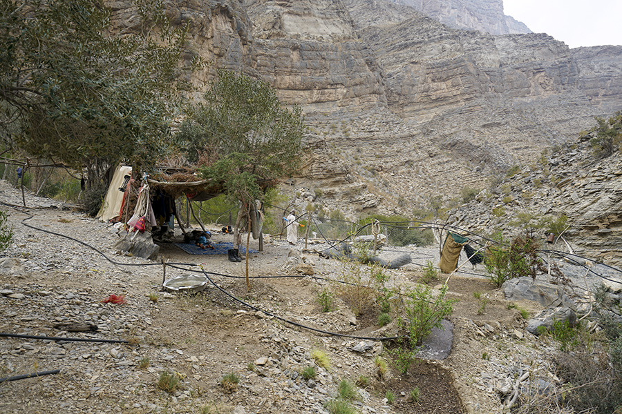 Ghayl Shadhan campsite on hajar mountains